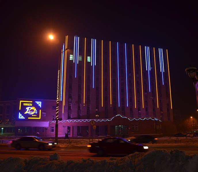 Подсветка фасада Усть-Каменогорск
