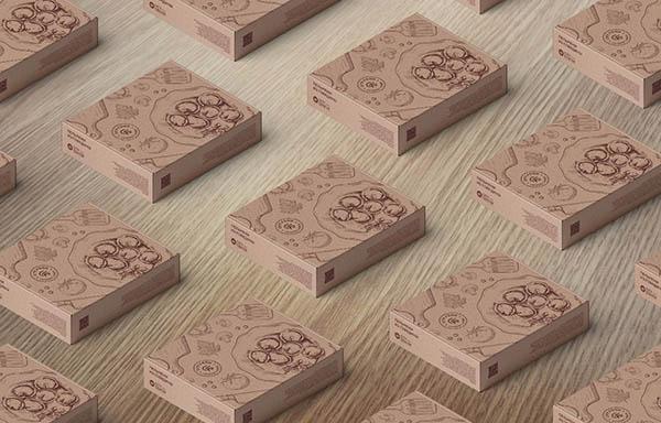 разработка дизайна коробки для продуктов